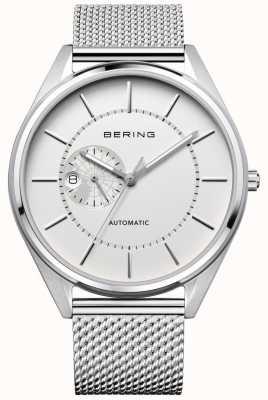 Bering Bracelet automatique automatique en argent milanais pour hommes 16243-000