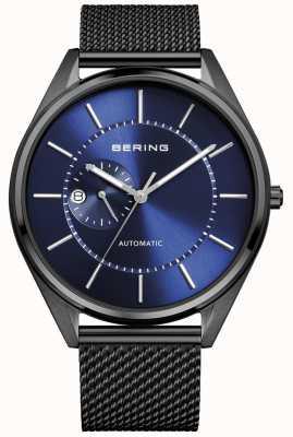 Bering Bracelet automatique en acier noir millanais pour hommes 16243-227