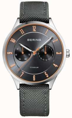 Bering Hommes ultra léger titane nylon gris 11539-879