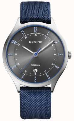 Bering Hommes ultra léger titane nylon bleu 11739-873