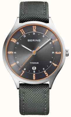 Bering Hommes ultra léger titane nylon gris 11739-879