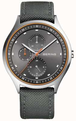 Bering Chronographe chronomètre ultra léger pour homme nylon gris 11741-879
