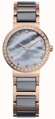 Bering Acier plaqué or en céramique haute technologie Womans High Tech 10725-769