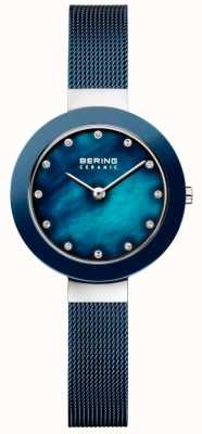 Bering Bracelet en céramique bleu millanais Womans 11429-387
