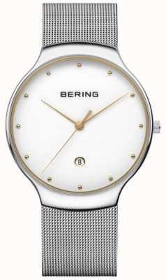 Bering Hommes classique date argent lanière milanaise 13338-001