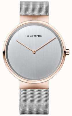 Bering Bracelet argenté millésime classique unisexe avec étui en or rose 14539-060