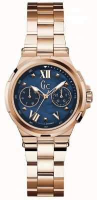 Gc Womans structura day date rose montre dorée Y29003L7