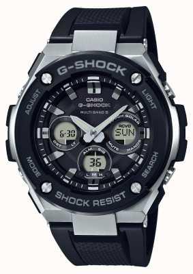 Casio g-shock g acier midsize alarme chrono noir GST-W300-1AER