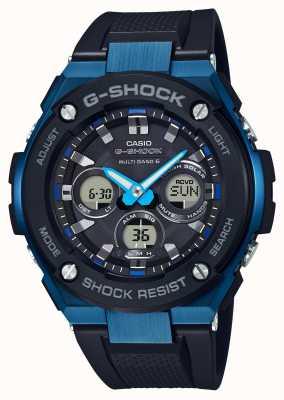 Casio Lunette solaire mousse homme g-shock g-steel bleu GST-W300G-1A2ER