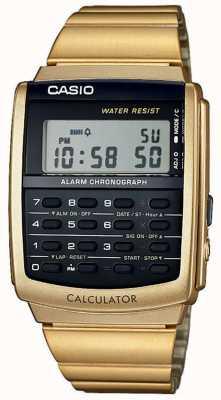 Casio Alarme unisexe chronographe doré calculatrice alarme chrono CA-506G-9AEF