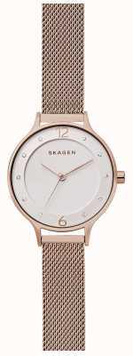 Skagen Womans anita medium rose maillage en or SKW2650