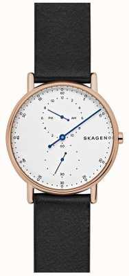 Skagen Bracelet en cuir noir Signatur Mens SKW6390
