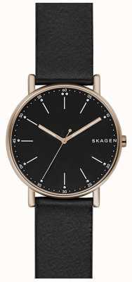 Skagen Bracelet en cuir noir Signatur Mens SKW6401