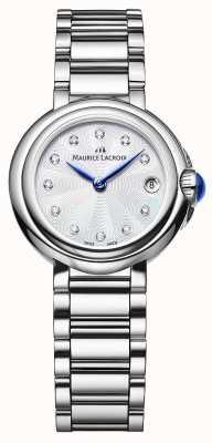 Maurice Lacroix Montre-bracelet Fiaba 28 mm sertie de diamants pour femme FA1003-SS002-170-1