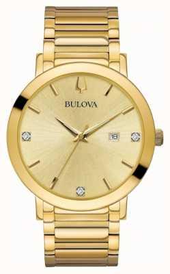 Bulova Montre à diamants en or 97D115