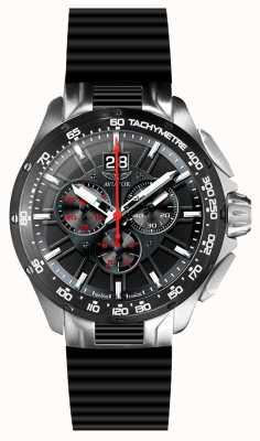 Aviator Bracelet en caoutchouc noir chronographe Mens Mig-35 M.2.19.5.134.6