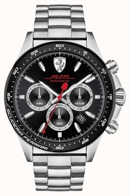 Scuderia Ferrari Pilota en acier inoxydable 0830393