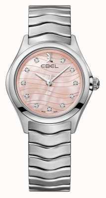 EBEL Montre à cadran rose sertie de diamant vague pour femme 1216268