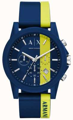 Armani Exchange Chronographe homme à rayures bleues AX1332
