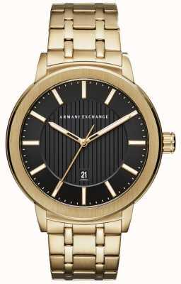 Armani Exchange Bracelet en métal doré AX1456