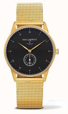Paul Hewitt Montre signature unisexe | bracelet en acier inoxydable doré PH-M1-G-B-4M