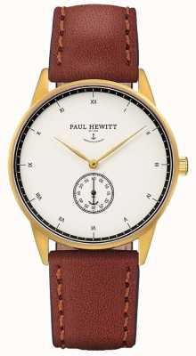 Paul Hewitt Bracelet en cuir marron signature unisexe PH-M1-G-W-1M