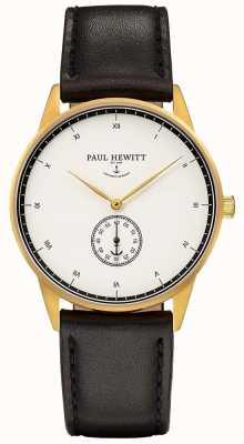 Paul Hewitt Bracelet en cuir noir signature unisexe PH-M1-G-W-2M