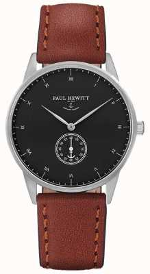 Paul Hewitt Bracelet en cuir marron signature unisexe PH-M1-S-B-1M