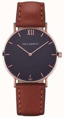 Paul Hewitt Bracelet en cuir marron unisexe PH-SA-R-SM-B-1M