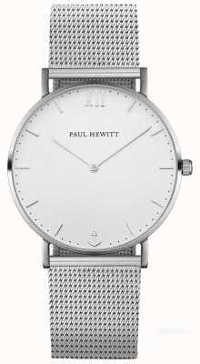 Paul Hewitt Bracelet en maille argenté argenté unisexe PH-SA-S-SM-W-4M