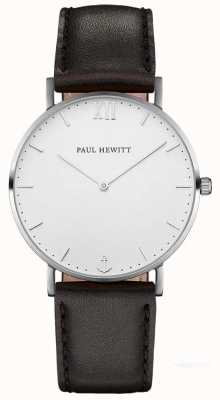 Paul Hewitt Braguotte en cuir noir marin simple PH-SA-S-ST-W-2M
