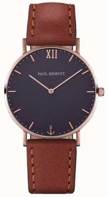 Paul Hewitt Bracelet en cuir marron unisexe PH-SA-R-ST-B-2M