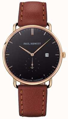 Paul Hewitt Hommes la grande ceinture en cuir marron atlantique PH-TGA-G-B-1M