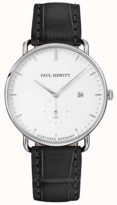 Paul Hewitt Unisexe la grande ceinture en cuir noir atlantique PH-TGA-S-W-15M