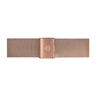 Paul Hewitt Bracelet maille en acier inoxydable or rose 186mm PH-M1-R-4M