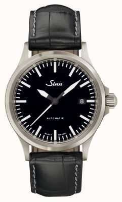 Sinn 556 i sports verre saphir en alligator noir cuir embossé 556.010 EMBOSSED LEATHER