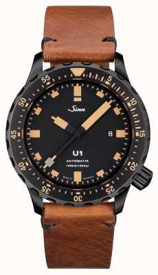 Sinn U1 se u-boat steel vintage marron cuir v-stitch 1010.023