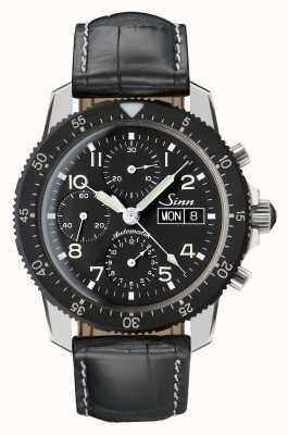 Sinn 103 st classique chrono chrono noir alligator cuir gaufré 103.035