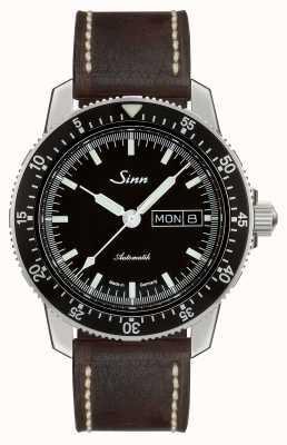 Sinn 104 st sa montre classique classique cuir marron foncé 104.010-BL50202002007125401A
