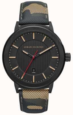 Armani Exchange Montre bracelet à cadran noir pour homme AX1460