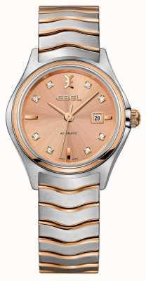 EBEL Montre en or rose deux tons sertie de diamants pour femmes 1216328