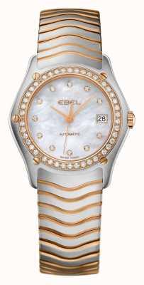 EBEL Montre automatique à deux tons sertie de diamants pour femmes 1215928