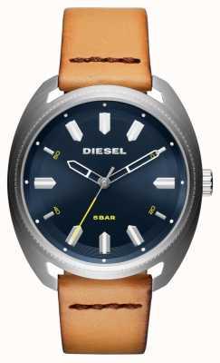 Diesel Montre en cuir pour homme fastbak tan DZ1834