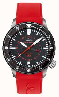 Sinn U2 sdr u-boat steel mission timer diver silicone rouge 1020.040