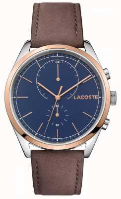 Lacoste Bracelet en cuir homme san diego bleu 2010917