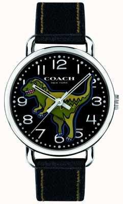 Coach Unisexe delancey rexy noir dinosaure en cuir 14400008