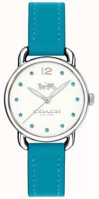 Coach Womans delancey montre bracelet en cuir bleu 14502911