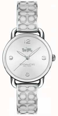 Coach Womans delancey regarder l'argent 14502891