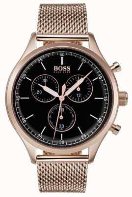 BOSS Bracelet chronographe compagnon pour homme en or rose 1513548