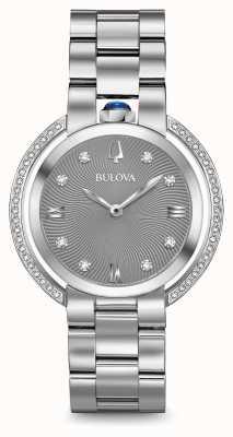 Bulova Womans rubaiyat montre toner argenté 96R219